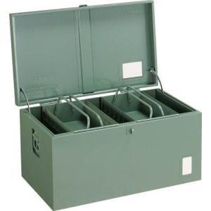 (車載用 収納箱 道具箱)トラスコ 中型車載用 工具箱 中皿付 700X420X370 F7000