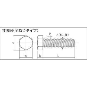 (六角ボルト)トラスコ 六角ボルトステンレス全ネジ サイズM6X12 40本入  B23-0612|unoonline|03