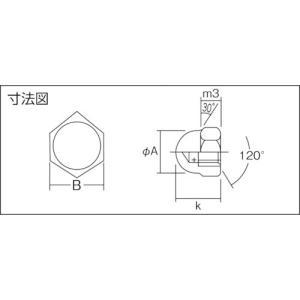 (ナット)トラスコ 袋ナット ステンレス サイズW3/8X16山 8個入  B40-0318|unoonline|02