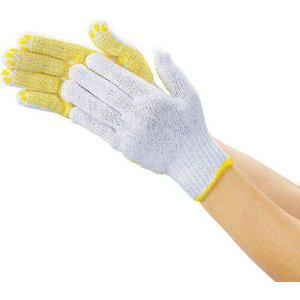 (作業手袋 軍手)トラスコ 一般作業用すべり止め手袋厚手 12双組 フリーサイズ  DPM-39E unoonline