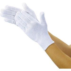 (作業手袋 軍手)トラスコ 軽作業用すべり止め手袋 薄手 5双組 フリーサイズ  DPM-39LE unoonline