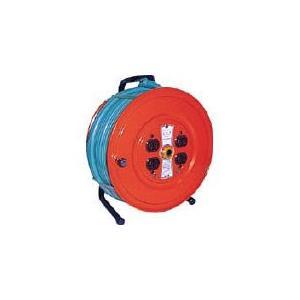 (コードリール 電工ドラム 100V)トラスコ ソフトケーブルコードリール 50m  GS-50T|unoonline