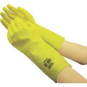 (溶剤用手袋)ショーワグローブ SHOWA SD−1000耐溶剤用手袋 LLサイズ イエロー  SD-1000-LL|unoonline