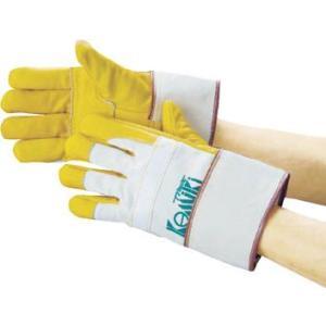 (手袋作業 軍手)カミキ 防振手袋 天然牛表革製  TC-1