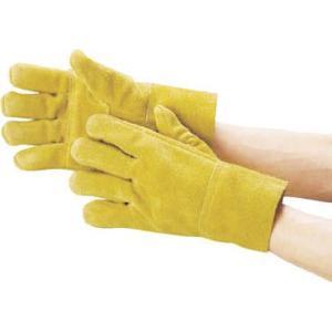 (手袋作業 軍手)カミキ 防振手袋 天然牛床革製  T-2