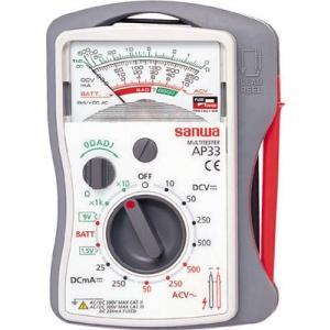 (電気測定器 テスタ)三和電気計器 SANWA 小型アナログマルチメータ AP33|unoonline