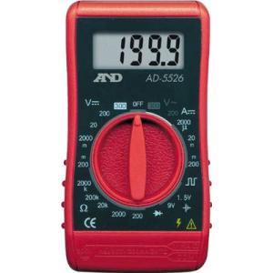 (電気測定器 テスタ)A&D デジタルマルチメーター汎用コンパクト形52X95X26mm AD5526|unoonline