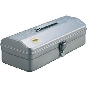 (スチール 工具箱 ツールボックス 道具箱 おしゃれ)TRUSCO トラスコ 山型ツールボックス シルバー  Y-350|unoonline