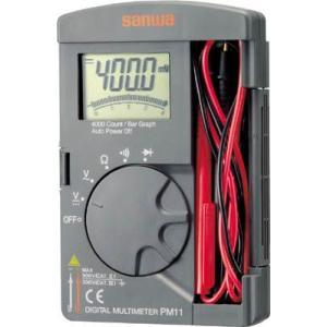 (電気測定器 テスタ)三和電気計器 SANWA ポケット型デジタルマルチメータ PM11|unoonline