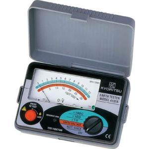 送料無料 (電気測定器 テスタ)共立電気計器 共立電気計器 KYORITSU アナログ接地抵抗計(ソフトケース)MODEL4102A|unoonline