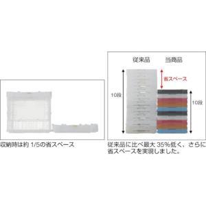 (折りたたみコンテナボックス 収納 おしゃれ)トラスコ 薄型折りたたみコンテナスケル 50Lロックフタ付 ブラック  TSK-C50B|unoonline|03