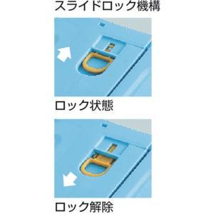 (折りたたみコンテナボックス 収納 おしゃれ)トラスコ 薄型折りたたみコンテナスケル 50Lロックフタ付 ブラック  TSK-C50B|unoonline|04