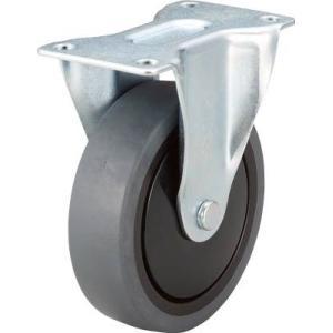 (消音キャスター 車輪)トラスコ 樹脂台車カルティオ用省音キャスター Φ100エラストマー車 固定 TYSR100SEL