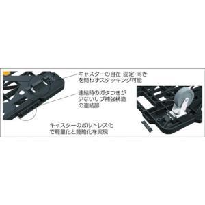 (平台車 台車 カート)トラスコ ルートバンメッシュタイプ 615X415 黒  MPK-600-BK|unoonline|02