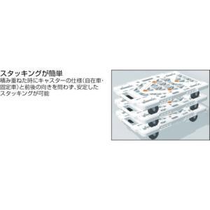 (平台車 台車 カート)トラスコ ルートバンメッシュタイプ 615X415 黒  MPK-600-BK|unoonline|03