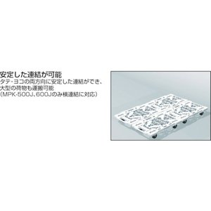 (平台車 台車 カート)トラスコ ルートバンメッシュタイプ 615X415 黒  MPK-600-BK|unoonline|04