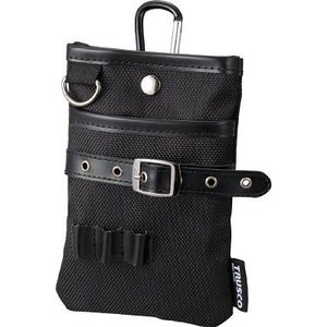 (腰袋 工具袋 工具入れ おしゃれ)トラスコ コンパクトツールケース シザーポケット ブラック  TCTC1509-BK unoonline