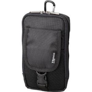 (腰袋 工具袋 工具入れ おしゃれ)トラスコ コンパクトツールケース ツーポケット ブラック  TCTC1601-BK unoonline