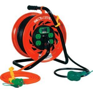 (コードリール 電工ドラム 逆配電型)日動工業 マジックびっくリール アース漏電遮断器付き30m  RZ-EB30S|unoonline