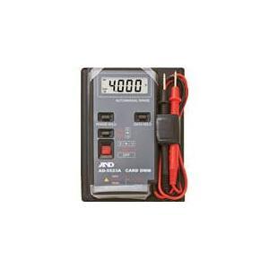 (電気測定器 テスタ)A&D デジタルマルチメーターカードタイプ最大1999カウント AD5523A|unoonline