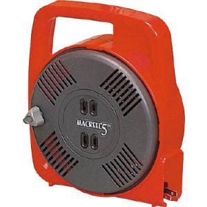 (コードリール 電工ドラム 100V)ハタヤリミテッド マックリール 単相100V 5m 手動巻 レッド  MS-5-R|unoonline