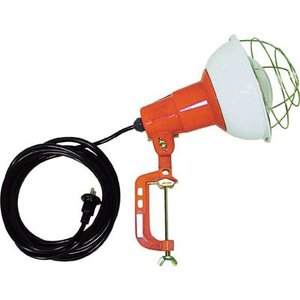 (現場用投光器)ハタヤリミテッド 防雨型作業灯 リフレクターランプ200W 100V電線5m バイス付  RC-205 unoonline