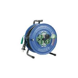 (コードリール 電工ドラム 防雨型)ハタヤ 防雨型サンデーレインボーリール 単相100Vアース付 20m  SG-20K|unoonline