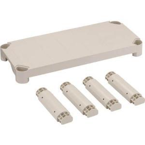 (プラスチック棚 収納棚 整理棚)トラスコ プラ棚用 棚板セット軽量型 脚付 800X350  TPT-234S|unoonline