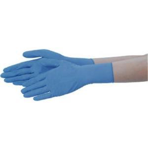 (使い捨て手袋 使い切り手袋)テイジン ニトリル手袋 粉なし 青 LL  NBR-PF10B-LL|unoonline