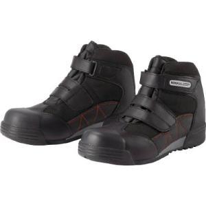 (作業靴 安全靴 保護靴)ワイド樹脂先芯入りハイカットスニーカー 26.0CM  MPC525-BK-26.0|unoonline