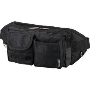 (腰袋 工具袋 工具入れ おしゃれ)トラスコ ウエストポーチ 2ポケット ブラック  TC-WDP-BK unoonline