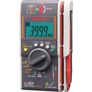 送料無料 (電気測定器 テスタ)三和電気計器 SANWA ハイブリッドミニ絶縁抵抗計 ケース付(3レンジ絶縁抵抗計+クランプ) DG35A/C|unoonline