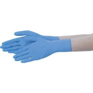 (使い捨て手袋 使い切り手袋)テイジン ニトリル手袋 粉なし 青 L  NBR-PF10BL|unoonline