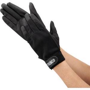 (手袋作業 軍手)トラスコ PU薄手手袋エンボス加工 ブラック M  TPUM-B-M|unoonline