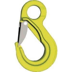 【特長】堅牢なスプリングラッチを備えたフックです【用途】ワイヤロープ・チェーンなどの玉掛け用先端金具...