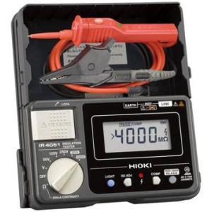 送料無料 (電気測定器 テスタ)日置電機 HIOKI 5レンジ絶縁抵抗計 スイッチ付きリード  IR4051-11|unoonline