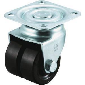 (低床式 キャスター 車輪)ユーエイキャスター 重量用双輪キャスター 自在車 50径 黒ナイロン車輪  HG-50BN-W unoonline