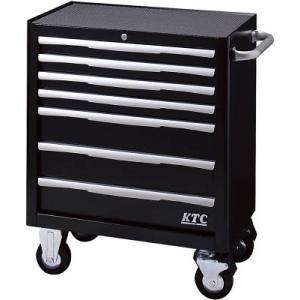 直送品 代引き不可(スチール製工具箱)KTC ローラーキャビネット(7段7引出し)ブラック  EKW-1007BK|unoonline