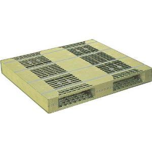 直送品 代引不可 (パレット)NPC プラスチックパレットZR−110130E 両面ニ方差し ライト...