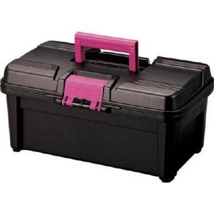 (プラスチック 工具箱 ツールボックス 道具箱 おしゃれ)リングスター エコットRE−380ブラック  RE-380-BK