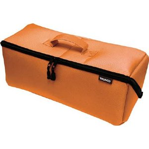 (腰袋 工具袋 工具入れ おしゃれ)トラスコ 大開口布製工具ケース オレンジ 420mm  TDTC-420-OR unoonline
