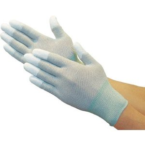 (静電気防止手袋)TRUSCO トラスコ カーボン・ナイロンインナー手袋PU指先コート L  TGL-9011-L|unoonline
