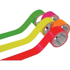 (反射テープ)TRUSCO 蛍光ラインテープ25mmx10m グリーン  TLK-2510GN unoonline