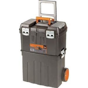 (直送品 代引き不可)(樹脂製工具箱)バーコ ヘビーデューティー仕様キャスター付きプラスチックボックス 4750PTBW47|unoonline