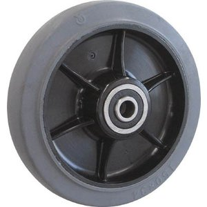 (プレート式ゴム車)TRUSCO TYSシリーズ 車輪のみ グレーゴム 125Φ  TYSW-125G unoonline