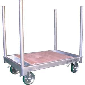 (直送品 代引き不可)(長尺物運搬車)カンベ スチール製平床運搬台車天板ベニヤタイプ H1280DC|unoonline