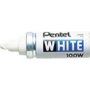 (工業用マーカー)ペンテル ホワイト太字(工業用マーカー)X100WD 10本入