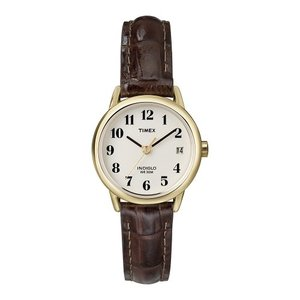 タイメックス   Timex Women's Easy Reader Date Leather Strap Watch-T20071 海外モデル|unrosage-ystore