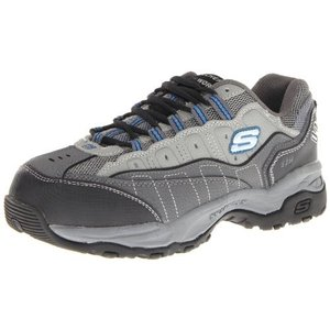 [スケッチャーズ] for Work Men's Hobby Lace Up Athletic,Gray/Charcoal,9 M|unrosage-ystore