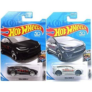 ホットウィールHot Wheels Tesla Model X ブラック 328/365 および T...